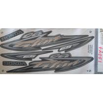 Jogo Faixa Adesivo Titan 125 Es 2004 (preta) Fa051