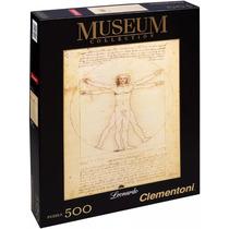 Quebra Cabeça 500 Peças Leonardo Da Vinci Homem Vitruviano