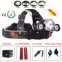 Lanterna De Cabeça 8000 Lúmen Rj-3000 T6 + 2 Bateria Litio