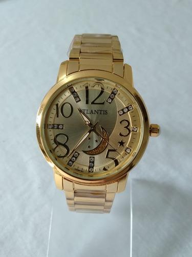 0f8836e2ba2 Relógio Feminino Dourado Atlantis B3329 Original