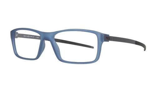 Armação Oculos Grau Hb 93144 A0533 Azul Preto Fosco ae883e99ef