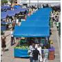 Lona Ck 300 Azul Impermeável Para Barraca De Feira 7,5x3,5 M