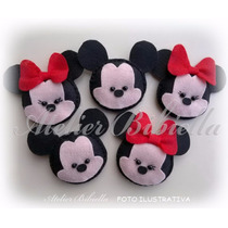 Mickey Ou Minnie Da Bibiella Kit 10 Lembrancinhas Feltro