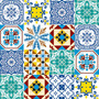 Tecido Adesivo Mosaico Azulejo P 50cmx1m Flok Tecidos
