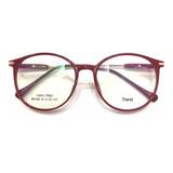 Óculos P/grau Armação Sem Grau Redondo Acetato Varis Cores