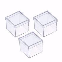 Caixinha Em Acrílico 4x4(100 Unid) Lembrancinha Frete Grátis