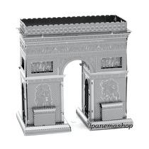 Mini Quebra Cabeça 3d De Metal - Arco Do Triunfo