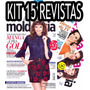 Kit 15 Revistas Moda Moldes Costura Roupas Vestido Moldes
