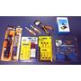 Kit Eletrônica E Solda 9 Itens Multímetro Ferro Sugador Lupa