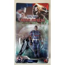Vingadores Boneco Falcon Guerra Civil Capitão América 3
