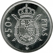 Espanha - 50 Pesetas De 1.979.
