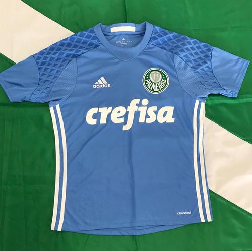 Camisa Goleiro Oficial adidas Palmeiras 2016 17 Infantil 14a - R ... 7597d9d8f0340