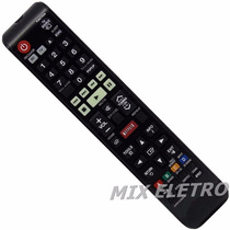 Controle Remoto Home Theater Bluray 3d Samsung F5505k F4505
