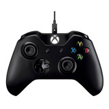 Controle Joystick Microsoft Xbox One Controller + Cable For Windows Preto