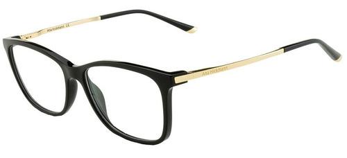 Armação Oculos Grau Ana Hickmann Ah6264 A01 Preto Dourado 014826a823