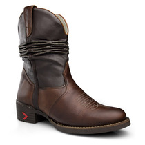Bota Texana Masculina Sanfonada Country Couro Capelli Boots