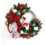 Guirlanda De Natal Decoração Vermelha Ovelha Gorro Luxo 65cm Original