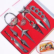Kit Kunai,shuriken Naruto,sasuke, 13cm Metal Frete Gratis
