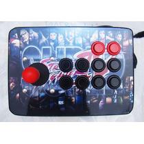 Arcade Joystick Controle Fliperama Pc/play 3 Ou Play 2 C/fio