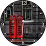 Relógio Parede Em Disco De Vinil, Cabine Telefônica Inglesa