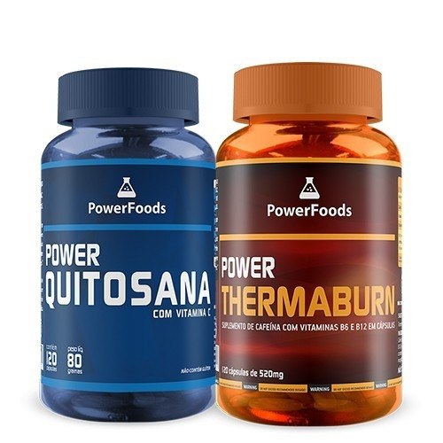 Combo Emagrecimento Intenso - Power Quitosana + Thermaburn
