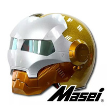 Masei 901 Atomic-man Capacete Da Motocicleta Faísca Ouro S M