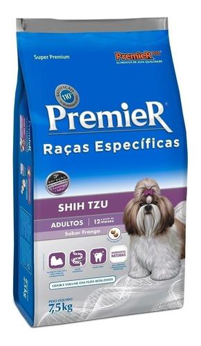 Ração Premier Raças Específicas Shih Tzu Super Premium Cachorro Adulto Raça Pequena Frango 7.5kg