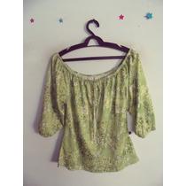Blusa Feminina Ciganinha Verde Estampada Cód. 188