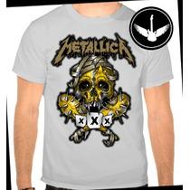Camiseta Metallica Caveiras Baby Look Regata Camisa Banda