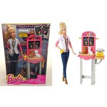 Conjunto Boneca Barbie Quero Ser Veterinária Original Mattel