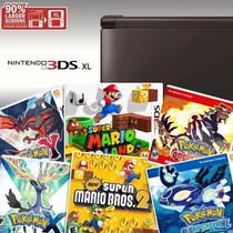 3dsxl + 16 Jogos Originais Pokemon X Y Sapphire Ruby E Mario