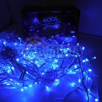 Cascata Led 400 Lampadas Natal Pisca Pisca Azul Decoracao