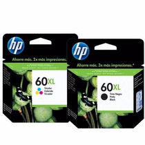 Cartucho De Tinta Hp 60xl Black E 60xl Color Original