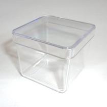 20 Caixinhas Acrilica 4x4 Transparente 0,80 Cada