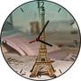 Relógio De Parede Em Vinil, Paris, Torre