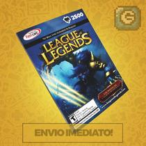 League Of Legends Lol - Cartão 2500 Riot Points Rp Br Brasil