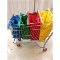 Big Bag - Kit Com 4 Sacolas Retornaveis Para Mercado