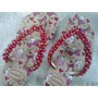 Chinelo Havaianas Mary Estampado Bordado Pérolas Vermelhas