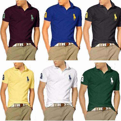 Kit 8 Camisas Camisetas Gola Polo Masculina Atacado Barato 917871cb6ba16