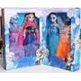 Princesa Ana E Rainha Elsa Frozen Bonecas 30 Cm + Roupinhas