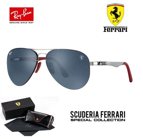 b4a149440 Ray Ban Aviador Tech Flip Out Rb3460 Ferrari Carbono