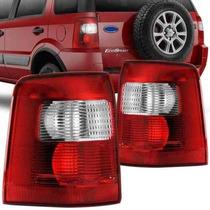 Lanterna Traseira Ecosport 2003 2004 2005 2006 2007 Cristal