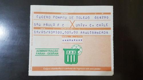 Ingresso Futebol Final São Paulo Campeão Libertadores 1993