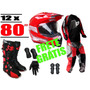 Kit Motocross Trilha Bota + Capacete + Conjunto + Acessórios