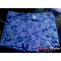 Lindo Shorts Renda Adorável E Barato P/m/g Azul