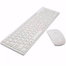 Kit Teclado + Mouse Sem Fio Wireless 2.4ghz 3200dpi Óptico