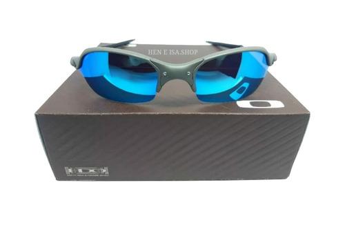 13ae8b204 Oculos Oakley Romeo 2 Azul Bebe Caixa+saquinho Oakley à venda em ...