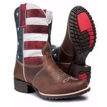 Bota Texana Eua Country Western Couro Legitimo Capelli Boots