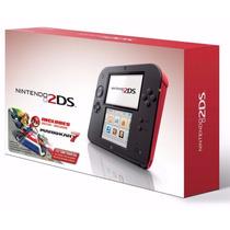 Nintendo 2ds Incluso Mario Kart 7+ Case + Super Mario 3d