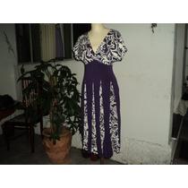 Vestido Longuete Em Viscose - Seminovo